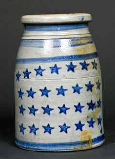 Old Stoneware Canning Jar...from Jas Hamilton & Co., Greensboro, Pa.