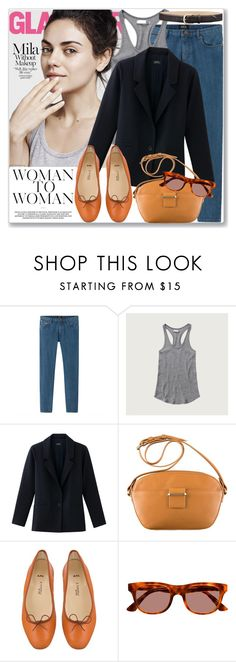 """Celeb Style: Mila Kunis"" by coraline-marie ❤ liked on Polyvore featuring Abercrombie & Fitch and RetroSuperFuture"