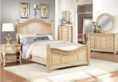 Shop for a Isabella Light Wash   5 Pc Queen Panel Bedroom at Rooms To Go. Find Queen Bedroom Sets that will look great in your home and complement the rest of your furniture. #iSofa #roomstogo