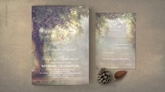 Rustic Tree Lights Invitation