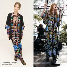 Florence performed in Sydney in fantastic pieces by Temperley London.