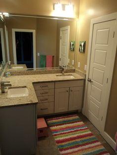 L Shaped Bathroom Vanity Double Sinks Dream Home Pinterest Sinks Vanities And Bath