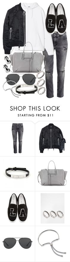"""""""Untitled #20389"""" by florencia95 ❤ liked on Polyvore featuring Nicopanda, Cartier, Balenciaga, Joshua's, ASOS, Michael Kors and Monica Vinader"""