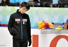 Yuzuru Hanyu of Japan is seen at a practice session during day one of the ISU World Team Trophy 2017 at Yoyogi National Gymnasium on April 20, 2017 in Tokyo, Japan.