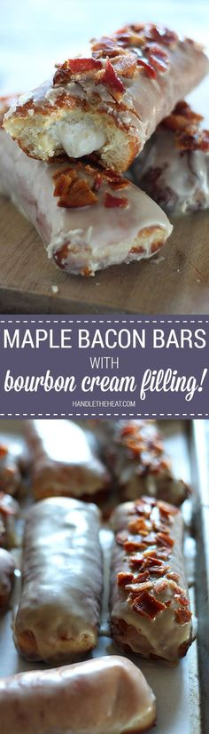 I will have dream about these Maple Bacon Bars with Bourbon Cream Filling! Not for the faint of heart! Ultimate salty sweet decadence with every fluffy, creamy, crispy bite. Obsessed!