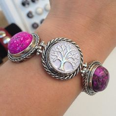 New Product : Snap Charm Bracelets, custom jewelry, custom bracelet, unique charm bracelet, ginger snap, tree charm, family tree, natural stone charm, amethyst,