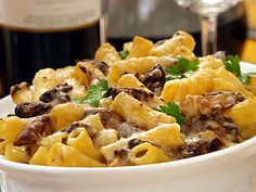 Baked Rigatoni with Porcini Mushrooms and Castelmagno Cheese