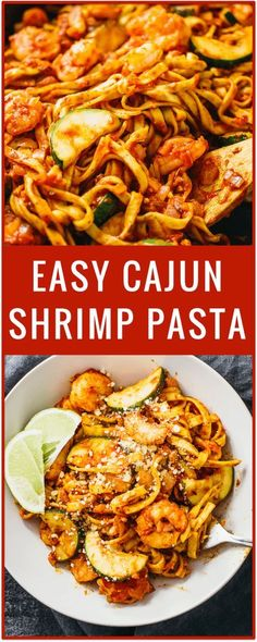 easy cajun shrimp pasta, spicy shrimp pasta, cajun chicken, cajun sausage pasta, creamy, simple, spaghetti, easy recipe, pasta dinner via @savory_tooth