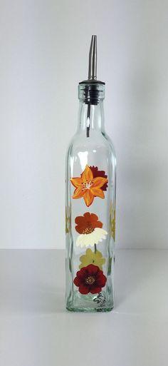 Glass Oil Bottle Soap Dispenser Hand by KitchenBarHomeDecor