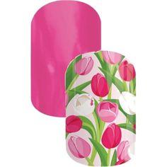 Jamberry Combo - Haute Pink & Spring Fling
