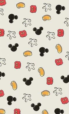 mickey mouse's body parts wallpaper
