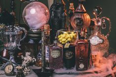 DIY Harry Potter Potion Display @Emma Zangs Sudlow  I bet Abbie would like this!