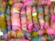 Little Princess Art Rolag Set for spinning 3.9 ounces by yarnwench, $31.00