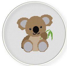 Buy 4 get 1 free ,Buy 6 get 2 free,Cross stitch pattern, PDF,Cute koala ,ZXXC0262. $4.00, via Etsy.