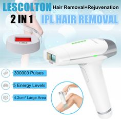 300,000 Pulses IPL Laser Permanent Epilator Hair Removal