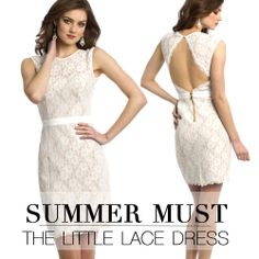 Camille La Vie White Lace Short Dress for Summer 2014