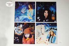 Digital print - Acrylic on canvas print - Original Art - Northern lights - Space Art - Galaxy - Art print - Decoration by IvonaKrastanova on Etsy