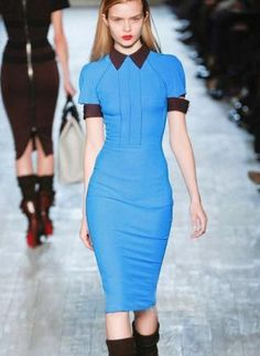 Blue Sexy Dress - Bqueen Victoria Beckhams In Slim $89.00