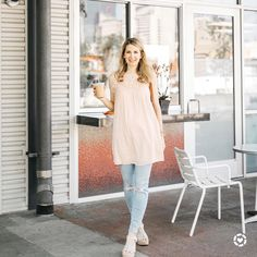 To my Dallas friends: I'm giving away two tickets to @savordallas next weekend. (Link in profile) Can't wait to enjoy the farm-to-table brunch deliciousness at their Community Brunch event! And to all my tall friends: you know those dress brands we can't wear bc they run too short? My solution is to make them a tunic! This blush lace dress (aka tunic) would also pair well with white jeans too. Screenshot or 'like' this pic to shop outfit details from the new LIKEtoKNOW.it app available now…
