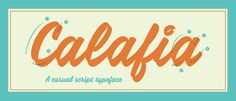 Introducing Calafia - A Casual Script Typeface by Neil Secretario on Dribbble Script Typeface, Hand Lettering Fonts, Types Of Lettering, Handwritten Fonts, Calligraphy Fonts, Brush Lettering, Lettering Design, Typography, Lost Type
