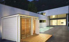 Sauna auf der Terrasse von Helo-Sauna