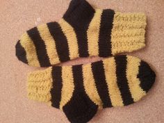 Hand knit baby wool stripped socks soft and warm by LeAnnDesign