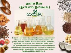 Aceites Vegetales.     Natural Extracts