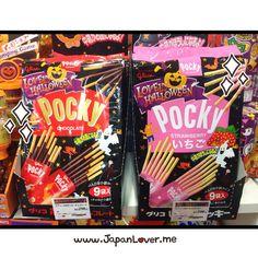 Chocolate Pocky or Strawberry (Ichigo) Pocky for Halloween? (★^O^★)  Photo from JL
