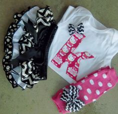 Baby Girl Outfit  Birthday Outift by LilBeanBabyBoutique on Etsy, $53.99