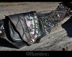 Leather Utility Belt _LEAF_High Quality Handmade by offrandes