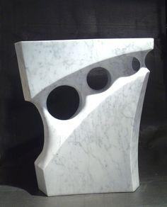 Labyrinth - Abstract sculpture - Carrara marble - x x - Jeremy Guy Geometric Sculpture, Abstract Sculpture, Sculpture Art, Contemporary Sculpture, Stone Sculpture, Soapstone, Stone Carving, Clay Art, Figurative Art