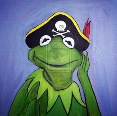 Pirate Kermit by supersmeg123.deviantart.com