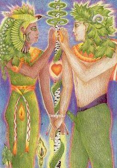 The Lovers, Greenwood Tarot  - If you love tarot, visit me at www.WhiteRabbitTarot.com