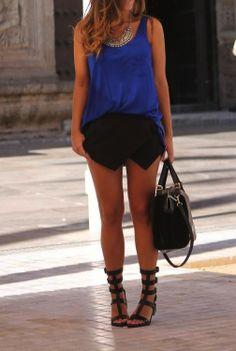 Asymmetrical shorts.