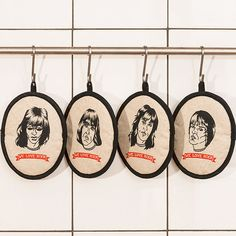 Rockers potholders RAMONES  printed by hand by weloverockdesign