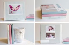 """Use Design Aglow Products in multiple ways! Arielle of Arielle Langhorne Photography shares, """"I used different backgrounds and designs from all of my design aglowproducts (Cotton Candy Birth Announcements, Classic Holiday Cards – Monogram Collection, Complete Baby Plan) and resized them to fit a CD template."""" #designaglow"""