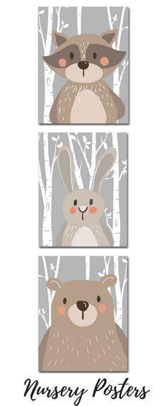 Animal Nursery Posters Nursery Decor #nurserydecor #nursery #posters #poster #posterdesign #nurseryideas