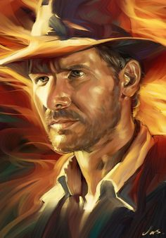 Awesome Art We've Found Around The Net: Goodfellas, The Hunger Games, Indiana Jones, Spock Caricatures, I Movie, Movie Stars, Henry Jones Jr, Film Mythique, Indiana Jones Films, Movie Poster Art, Harrison Ford, Cultura Pop