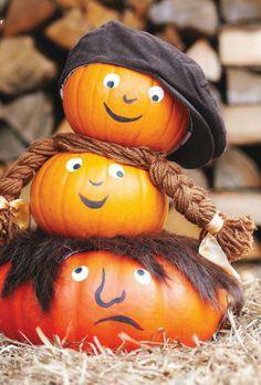 Pumpkins Decorated like kids and people
