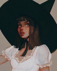 I like drawing witches Girl Drawing Sketches, Illustration Sketches, Drawing Ideas, Beautiful Drawings, Cute Drawings, Wicca, Witch Drawing, Cute Art Styles, Witch Art