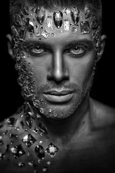 Vitally D photography Fantasy Photography, Male Photography, Vintage Photography, Tribal Makeup, Runway Makeup, Diamond Are A Girls Best Friend, Face Art, Makeup Art, Beautiful Images