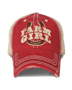 Farm Boy & Farm Girl Women's Farm Girl Horseshoe 2 Mesh Cap http://www.countryoutfitter.com/products/55793-womens-farm-girl-horseshoe-2-mesh-cap?lhs=u_p_p_n_a&lhb=MP&lhc=womens_apparel&lhg=farm_boy_and_farm_girl&utm_source=pinterest&utm_medium=social