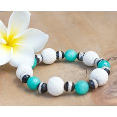 Natural stone green white bracelet, Natural stone jewelry, Beaded... ($23) ❤ liked on Polyvore featuring jewelry, bracelets, colorful bangles, bohemian style jewelry, yoga jewelry, rock jewelry and beaded jewelry