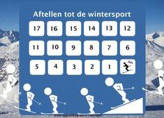 Aftelkalender wintersport kind. Aftellen tot de skivakantie. Speciaal voor de kinderen die dol zijn op wintersport!