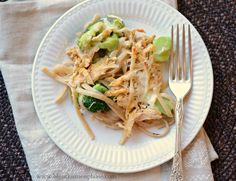 Healthy Tetrazzini with chicken and broccoli - Bless This Mess