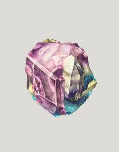 Watercolor Paintings of Crystals by Karina Eibatova (1)