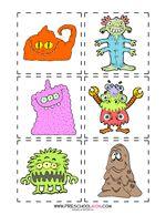Free Silly Monster Preschool Printables