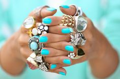 loving these rings and nail color