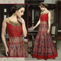 Ethnic Anarkali Gowns Suits Indian Bollywood Designer Wedding Party Dresses
