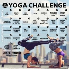 Strike a Pose! 30-Day Yoga Challenge to Get Your Vinyasa 'Om | Shape Magazine | Yoga love | New Year Resolutions